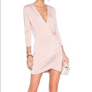 Lovers + Friends love happy v neck bodycon dress